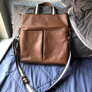 Coach Charles Fold Over Tote Crossbody Bag